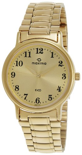 Maxima Analog Gold Dial Men's Watch - 26774CMGY image