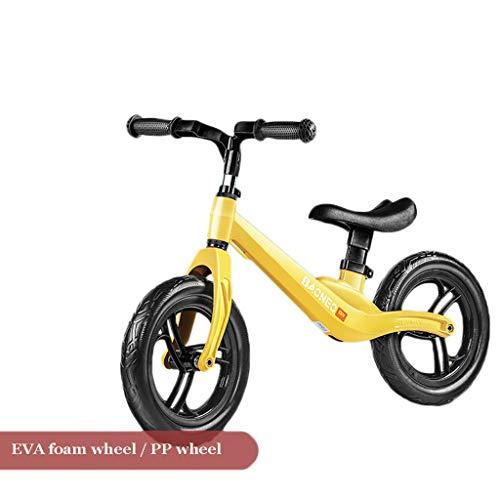 TCBIKE Magnesium-Legierung Zu fuß Fahrrad Kleinkind, Kein Pedal reiten Lernen Sport Training Fahrrad Verstellbar Reiten Spielzeug Baby laufrad im Alter von 2,3,4,5-D