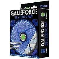 Blu Calcolatore Silenzioso Caso Della Ventola 120mm x 12cm / LED Game Max Galeforce / iCHOOSE - 3 Pin Gomma Connettore