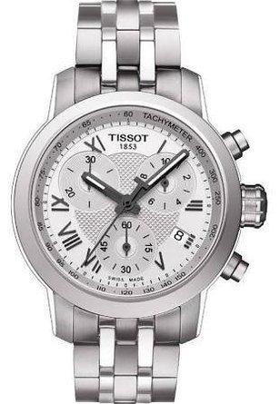 Tissot PRC200-Orologio da donna, colore: argento