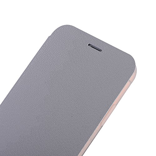 DBIT iphone X Coque - Cuir Microfibre PU Leather Flip Wallet Etui - TPU Cover Protection Shell Housse Case pour iphone X,Rouge Gris