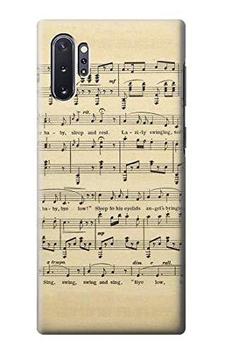 Innovedesire Vintage Music Sheet Hülle Schutzhülle Taschen für Samsung Galaxy Note 10 Plus
