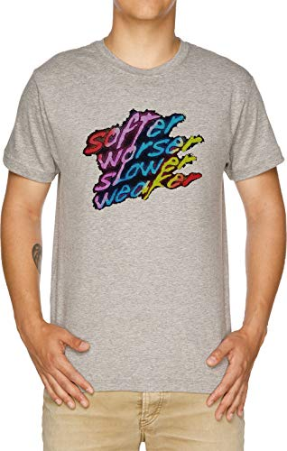 Vendax Softer Worser Slower Weaker Camiseta Hombre Gris