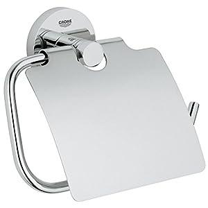 GROHE Essentials   Badaccessoires - WC-Papierrollenhalter   mit Deckel, chrom   40367001