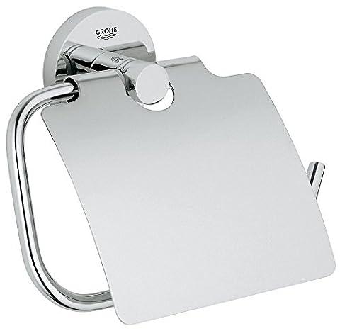 Grohe Essentials Badaccessoires WC-Papierrollenhalter (mit Deckel) chrom, 40367001