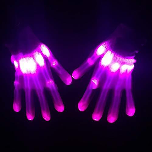 nde Handschuhe Bunte Licht Beleuchtung für Party Tanzen Halloween Weihnacht Karneval Geburtstag Coole Spielzeuge Einheitsgröße ()