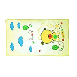 EIO 100% COTTON BABY TOWEL (YELLOW) 35-20cm