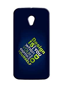 100 Degree Celsius Back Cover for Motorola Moto G 2nd Gen (Quote Printed)