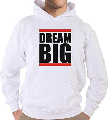 Settantallora - Felpa Con Cappuccio KJ2210 Dream Big Pensa alla Grande Bianco
