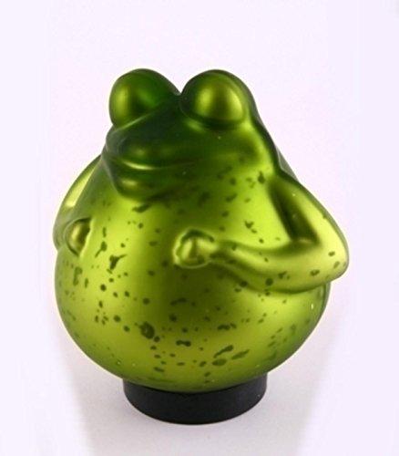 Frosch Figur schwimmend, grüner Frosch aus Glas. 14,5cm. 1 Stück