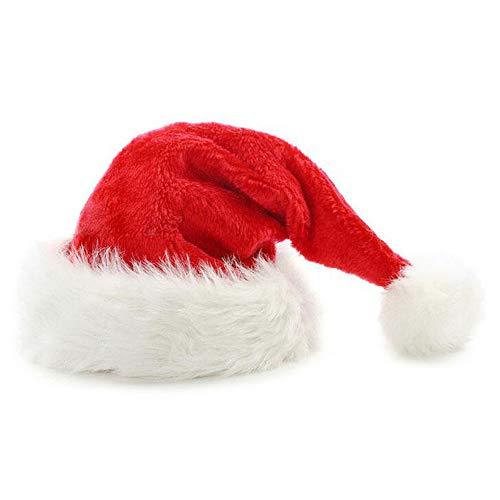 USA x-dodd INC Nikolaus-Mütze mit Pelzrand, in rot – weiß, Weihnachtsmütze, Weihnachtsmann, Wintermütze, Mütze, Weihnachten, Winter, Xmas