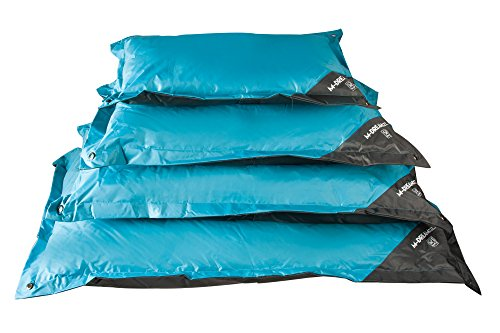 MPETS Natuna Coussin d'Extérieur pour Chien Bleu/Gris 80 cm Taille S