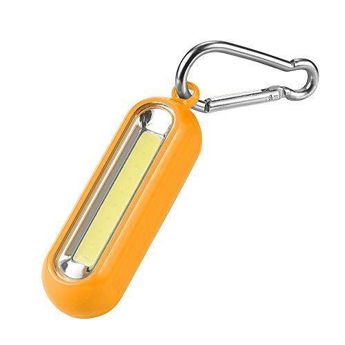 TianranRT 1xPortable COB LED Taschenlampe Karabiner Schlüsselanhänger Camping Licht Wandern Taschenlampe Geschenk (Orange)