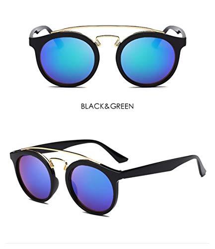 Wang-RX Klassische Mode Retro Spiegel Runde Sonnenbrille Frauen Männer Sonnenbrille Für Weibliche Shades Uv400