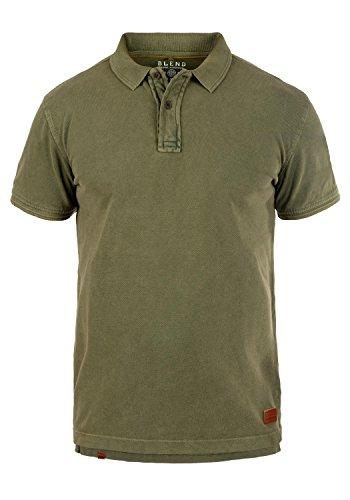 Blend Camper Herren Poloshirt Polohemd T-Shirt Shirt Mit Polokragen Aus 100% Baumwolle, Größe:M, Farbe:Dusty Green (70595) -