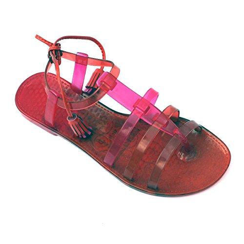 Juicy Couture punta-Post in sandali, taglia 3 -  3,5 DA £78 Rosa (Rosa)