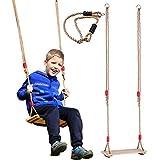 iBàste Kid - Asiento balancín para niños, Silla Mecedora Colgante para Parque de Juegos, Interior, Exterior, jardín, Carga máxima 80 kg
