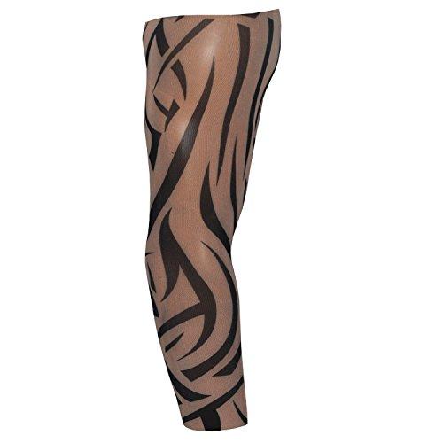 Finto tatuaggio manico braccio kunst temopräres fake tattoo arm sleeve new tribale design (t4)