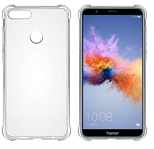 Huawei Honor 7X Flexible Ultra Slim Premium Silicon TPU Transparent Soft Back Cover Mobile Case by YGS®