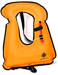 kilokelvin Snorkel Chaleco / Chalecos de Natación para Adultos / Niños , Chalecos Salvavidas Chaqueta Inflable Flotabilidad Compensador para Snorkel Surf Natación Canotaje Kayaking Pesca Rafting y Flotando (Amarillo )
