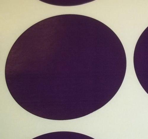 Pack Of 100 Grande 63mm Redondo / Circular Código De Color Lunares En blanco Precio Pegatinas Etiquetas - Elija Su Color/s (Morado Oscuro)