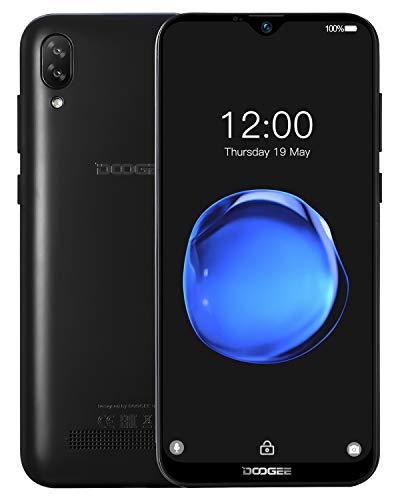 Cellulari Offerte, DOOGEE Y8C 6.1 '' 19: 9 Schermo Waterdrop Dual SIM Android 8.1 Smartphone Economici in Offerta 16GB ROM 1GB RAM, Batteria 3400mAh Quad Core Doppia Fotocamera 8MP+5MP, Face ID, Nero