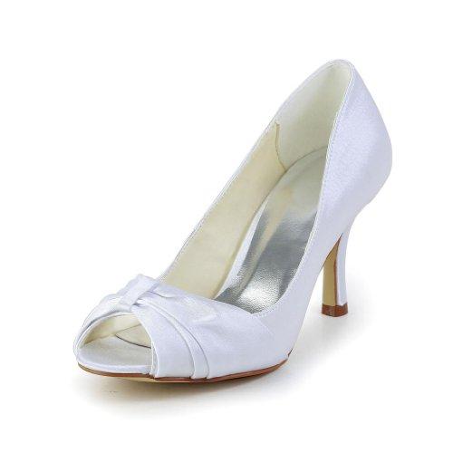 Jia Jia Wedding A31B25 Scarpe Sposa Scarpe col tacco donna Bianco