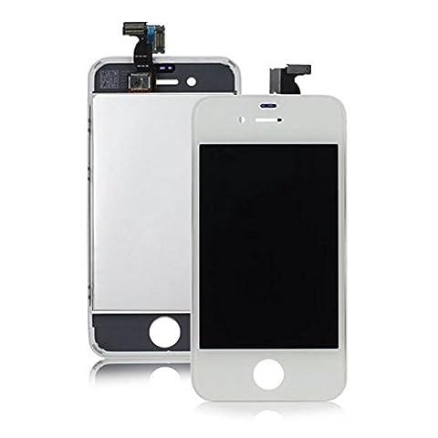 SPARFIX® - Vitre Tactile Blanche avec Ecran Lcd Assemblée Sur Châsis Pour iPhone 4S