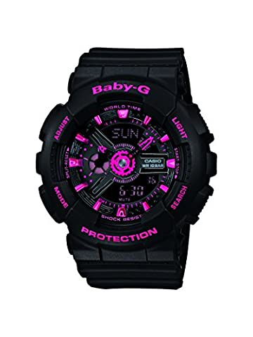 Casio Baby-G – Damen-Armbanduhr mit Analog/Digital-Display und Resin-Armband –