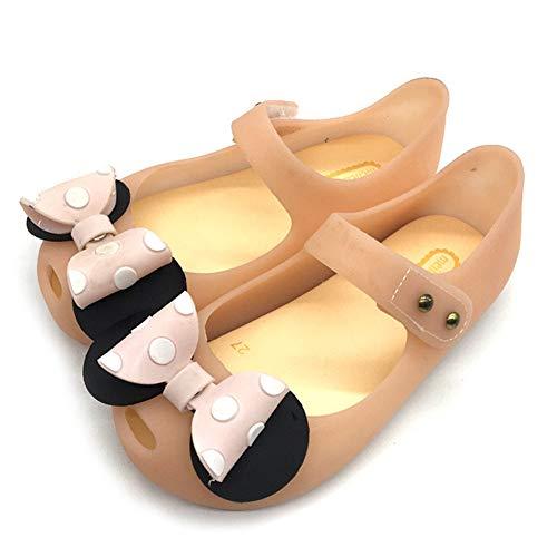 Mädchen Minnie Mouse Schuhe Tie Dot Bow Princess Sandalen Jelly Schuhe Weihnachten Geburtstagsgeschenk für Kleinkind/Little Kid (22EU, Gelb)