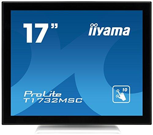 iiyama ProLite T1732MSC-W1X 43cm (17 Zoll) LED-Monitor SXGA 10 Punkt Multitouch kapazitiv (VGA, DVI, USB für Touch, IP54) weiß
