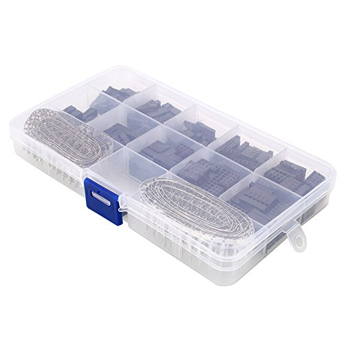 Preisvergleich Produktbild Sedeta® Box Dupont-Anschluss 610pcs Steckverbinder Stiftleisten Male / Female Crimp Pins Kit Für Dupont Durable New