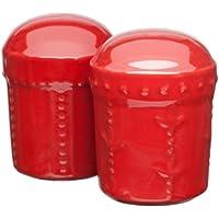 Signature Housewares Sorrento Collection Salt and Pepper Shakers, Ruby by Signature Housewares
