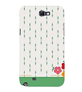 flowers in a white background 3D Hard Polycarbonate Designer Back Case Cover for Samsung Galaxy Note 2 :: Samsung Galaxy Note 2 N7100