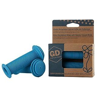 GD Grip Division® Kinder-Sicherheits-Fahrrad-Griffe mit Prallschutz   blau