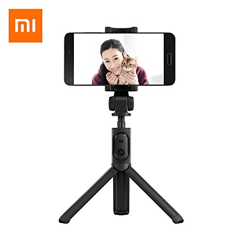 Bluetooth Selfie Stick,Bastone per selfie Xiaomi, on treppiedi pieghevole, con telecomando, Bluetooth e otturatore wireless, Estensibile 360° Rotazione Titolare per iPhone 8/8 Plus/7/7 Plus/Galaxy S8/S8 Plus/Google Pixel