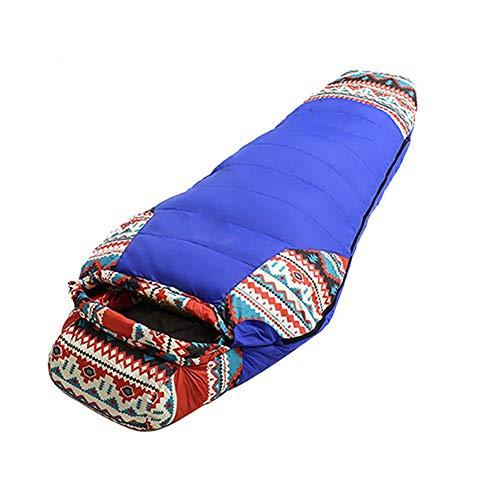Jinclonder Saco de Dormir Ligero Relleno de plumón, -20 °C ~ 10 °C, Dos Estilos, Saco de Dormir de otoño e Invierno, para Camping al Aire Libre