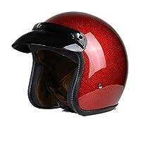 Men Women Universal Retro Motorcyclehelmet Lightweight Shockproof 3/4 Open Face Helmet Cruiser Chopper Cafe Racing Electric Motorbike Motocross Safety Caps