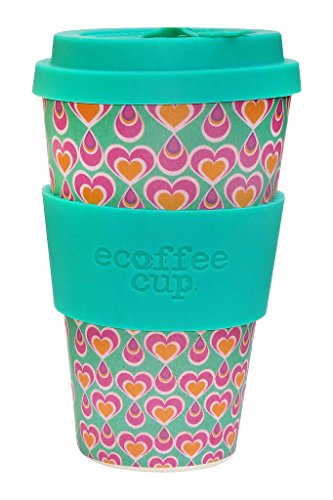 Ecoffee Cup itchykoo Pink, Turquoise 1pc (s) Cup/Mug - Cups & Mugs (Single, 0,4 l, Pink, Turquoise, Bamboo Fiber, Silicone, 1 Person (s), 1 pc (s))