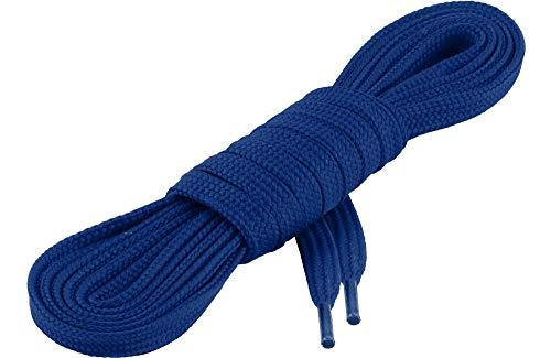 Ladeheid Qualitäts-Schnürsenkel LAKO1001, Flachsenkel für Arbeitsschuhen und Sportschuhen aus 100% Polyester, ca. 7 mm Breit, 18 Farben, 60-200 cm Länge, Kornblumen35, 150cm (Ca Della)