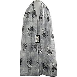 Bufanda - Animal Print - para mujer Multicolor PUG - Grey L