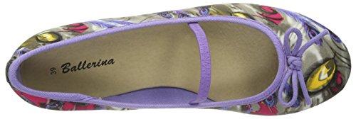 Indigo 422 201 Mädchen Ballerinas Violett (lila kombi 893)
