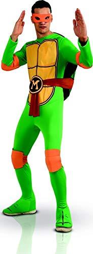 Generique - Teenage Mutant Ninja Turtles Michelangelo Kostüm Lizenzartikel grün-gelb ()