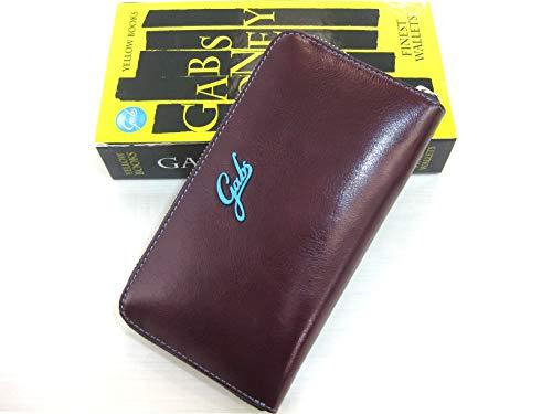 Gabs gmoney 17 portafoglio in pelle bordò con zip made in italy cm 19x10x2
