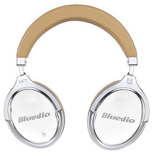 Bluedio f2(faith) cuffie wireless con riduzione attiva del rumore ripiegabili, over-ear, affari cuffie bluetooth senza fili con microfono (bianco)