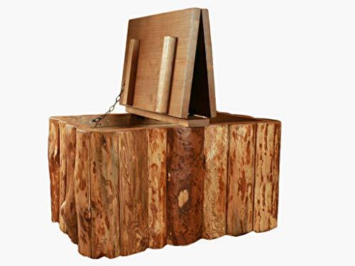 Propre Design Vintage Rustique en Bois Arbre Visage Style Maison de Campagne de Stockage de Table Basse Coffre