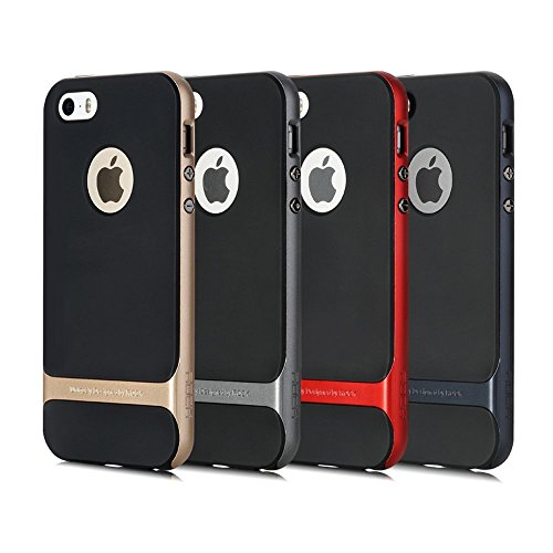 ROCK Royce Series Shockproof Dual Layer Back Case Cover for Apple iPhone 5 5S - GREY