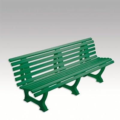 Bank, Kunststoffbank, Gartenbank, Parkbank, Sitzbank, grün, 200 cm