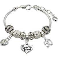 Special Friend 50th Birthday Charm Bracelet with Gift Box Women's Jewellery