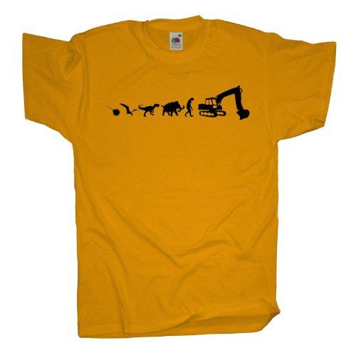 Ma2ca - 500 Mio Years - Baggerfahrer Bagger T-Shirt Sunflower